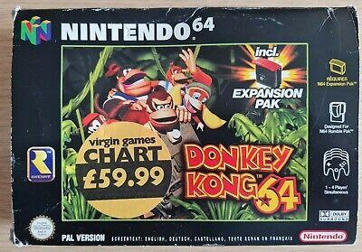 Donkey Kong 64 + Memory Expansion - N64 (PAL, Boxed, incl manuals)