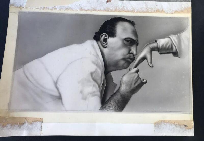 Original Drawing Of Man Kissing Hand