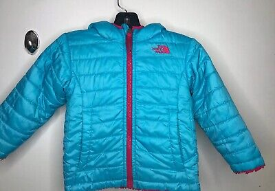 THE NORTH FACE REVERSIBLE PUFFER OSO JACKET GIRLS SIZE Toddle 2T - Kids