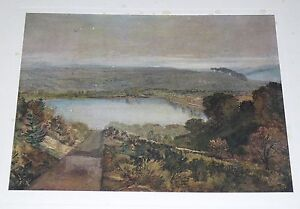J-W-M-Turner-Lake-Tiny-A-Very-Rare-Limited-Edition-real-Antique-Print-1912