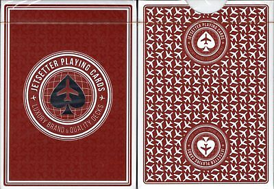 Jetsetter Restricted Red Playing Cards Poker Size Deck EPCC Custom Limited New