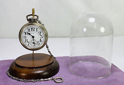 Elgin Father Time 16s 21j 14k Gold Filled Pocket Watch w Case Holds Perfect Time