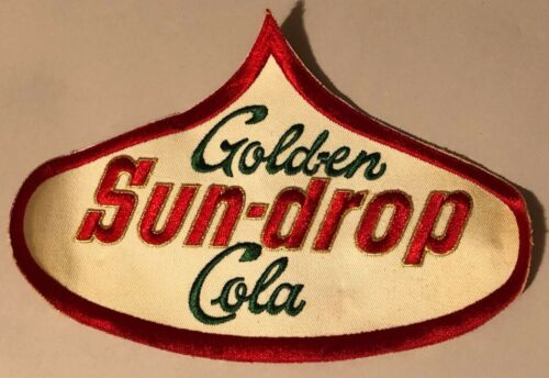 Vintage RARE Gold-En Sun-Drop Cola Advertising Employee Uniform 9in x 6in Patch
