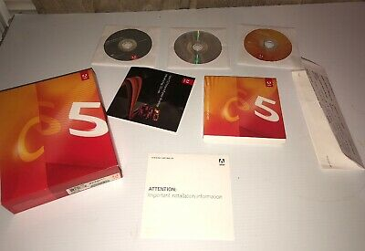 Adobe Creative Suite 5 Design Standard Used For Mac  in Retail Box w/ 3 DVDs N