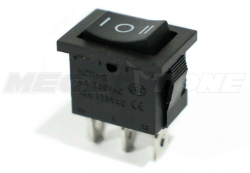 SPDT Mini Rocker Switch On-Off-On KCD1-103 6A/250VAC- High Quality - USA SELLER!