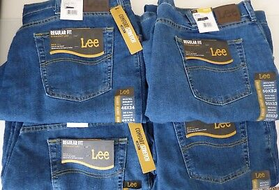 Lee Jeans Big And Tall Jeans (Lee Regular Fit Straight Leg Stretch Jeans Mens - Big &)