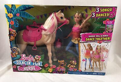 Barbie Doll and Her Dancing DANCIN FUN HORSE Set 3 Fun Songs & Dances New In Box