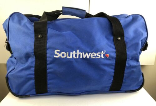 Large SOUTHWEST Airlines Gym Travel Duffle EMBROIDERED LOGO Bag