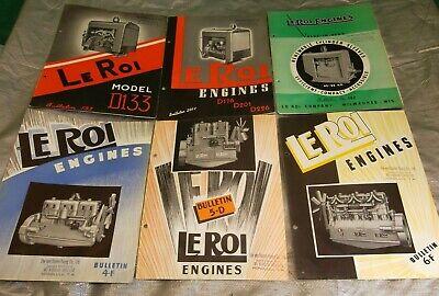 Pre-war Leroi Equipment Sales Literature - Air Compressor Engines Generator