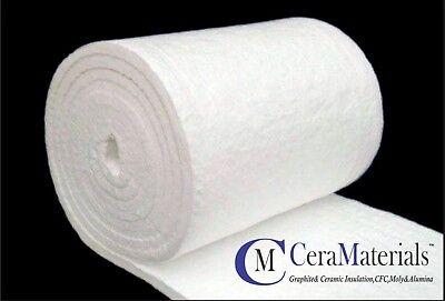 "Ceramic Fiber Blanket 2300F 8# Thermal High Temp Insulation 1""X24""X25' Kaowool"