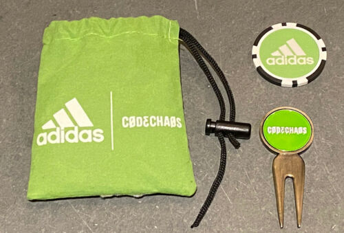 Adidas Codechaos Divot Tool & Poker Chip Golf Ball Marker wi