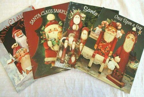 Lot 4 Decorative Art Book Santa Claus Sampler Elaine Thompson Painting Christmas