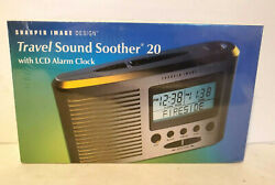 New Sharper Image Travel Sound Soother 20 with LCD Alarm Clock NIB