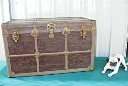 Amazing Antique Travel Steam Trunk Luggage Steampunk Universal Trunk Co. Chicago