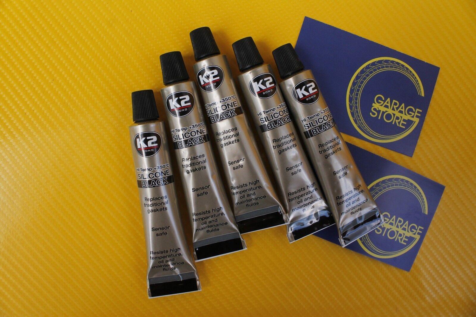 K2 Silikon Silikon Hochtemperatur Dichtmasse 350° Schwarz 300g Autopflege & Aufbereitung Abdichten