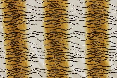 6Y ROBERT ALLEN TIGER FUR TAWNY BROWN ANIMAL PRINT MICROFIBER UPHOLSTERY FABRIC
