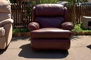 Maroon Single Recliner Forestville Unley Area Preview