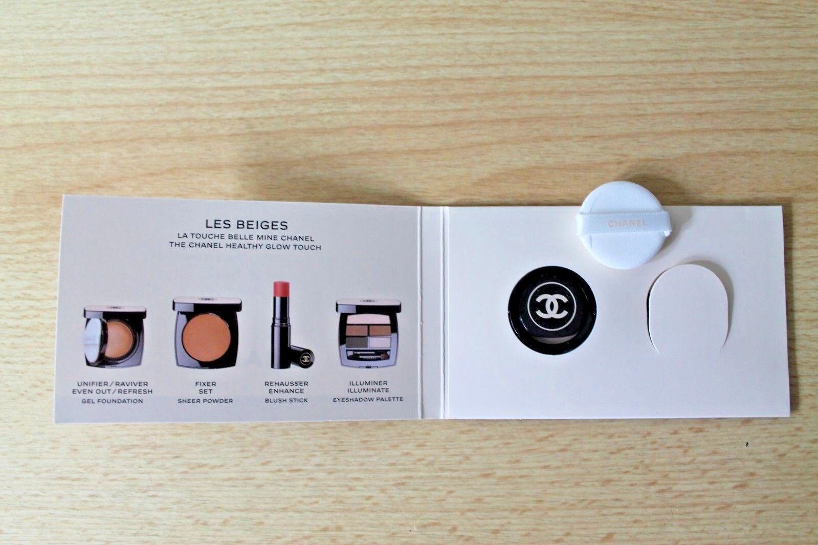Chanel Les Beiges Foundation Make Up Glow Gel m. Pad Set Neu