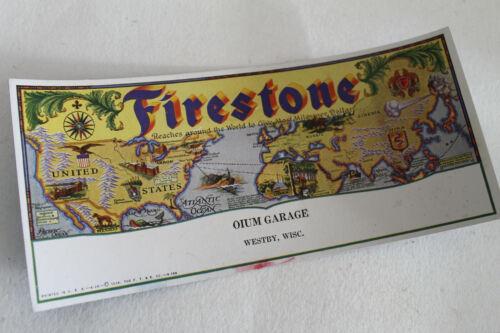 Vintage 1929 Firestone Tires Advertising Ink Blotter Oium Garage Westby WI