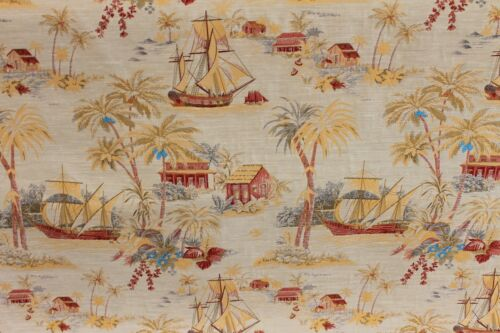 5+Y RARE STUNNING KRAVET ORIENTAL CHINOISERIE RED GOLD TOILE FINE JACQUARD FABRC