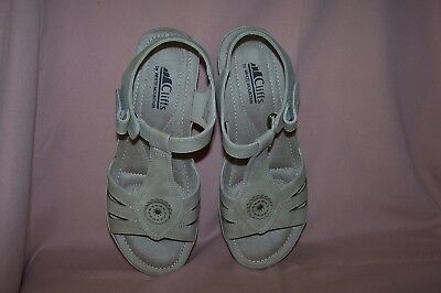 Cliffs by White Mountain Women's Fabia T-Strap Sandal Natural Sueded Shoe Sz. 10 for sale  Shipping to India