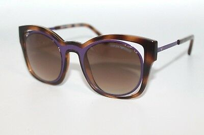 Emporio Armani Womens Sunglasses EA4091 5026/13 Havana & Purple W/ Brown Lens
