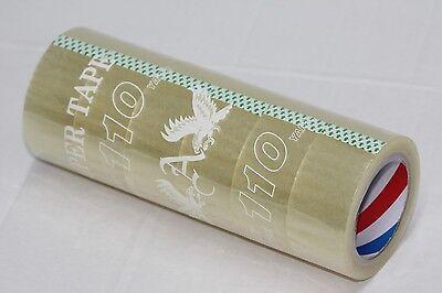 12 Rolls Carton Box Sealing Packaging Packing Tape 2 X 110 Yard