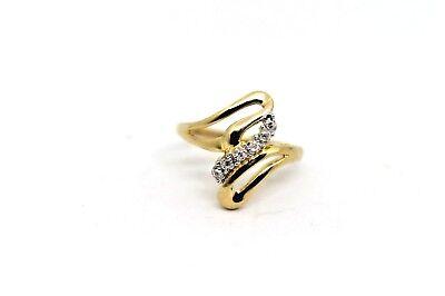 ladies estate diamond fashion ring 10k yellow gold sz7.75 $599 bag 775