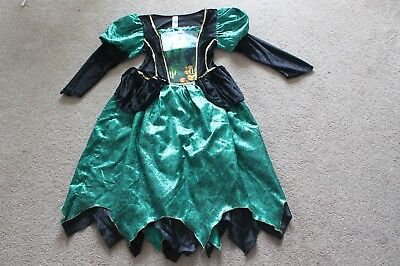 Girls Green Witch Fancy Dress Costume Halloween Age 11-12 Years Tu Good - Halloween Costumes For Girls Age 11-12