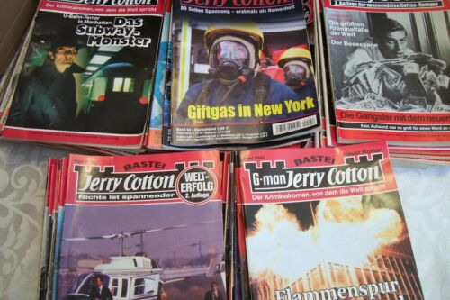 Lot of 50 Good G-Men Jerry Cotton,FBI Crime Stories Germany.In German,Paperback