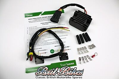 LUCAS 12V 120W SINGLE PHASE RECTIFIER REGULATOR   BSA NORTON TRIUMPH E