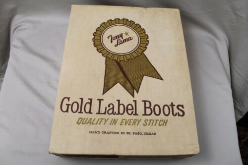 VTG Tony Lama Gold Label Cowboy Boot Box (empty box only)