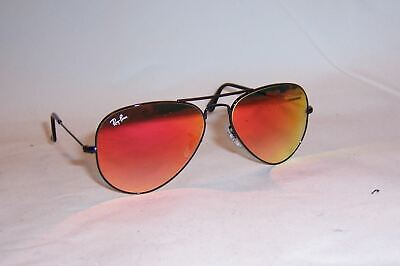 NEW RAY BAN AVIATOR Sunglasses 3025 002/4W BLACK/RED MIRROR 55MM AUTHENTIC