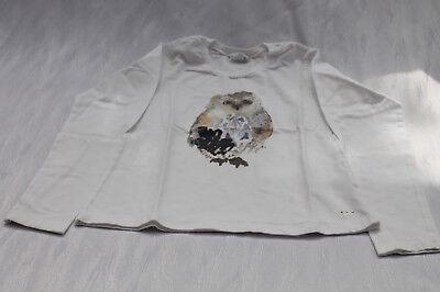 Mädchen Langarmshirt Shirt langarm 140 weiß Eule Königsmühle