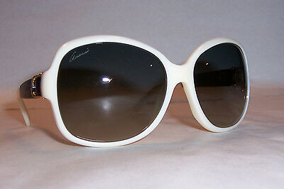 NEW GUCCI SUNGLASSES GG 3638/S 0XR-DX IVORY LEATHER/GRAY AUTHENTIC