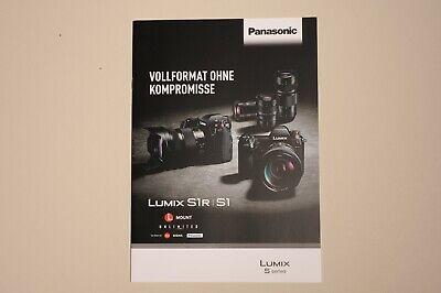 Katalog Panasonic Lumix S System S1 / S1R Gehäuse Objektive Zubehör neu Nikon Panasonic Lumix