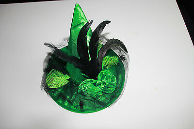 Luxus - Hexenhut grün *Halloween Fasching Karneval Hexe Kostüm Luxushexe* (Halloween Kostüme Grün)