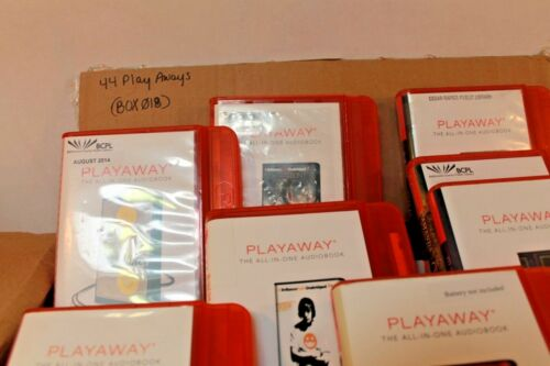Lot of 44 PlayAway Audio books - Box 018