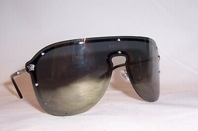 NEW VERSACE SUNGLASSES VE2180 VE 2180 10005A SILVER/GOLD MIRROR AUTHENTIC