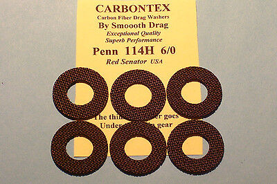 Carbon Smooth Drag washer kit Penn 6//0 and  9//0