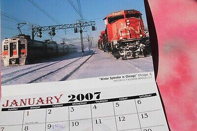 Railroad Train Locomotive Picture Calendar, 2007 FREE -