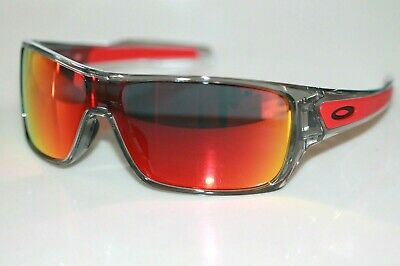 Oakley Turbine Rotor Sunglasses OO9307-03 Grey Ink Frame W/ Ruby Iridium Lens
