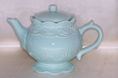 Mint Veranda Lace Teapot by A Special Place, NEW