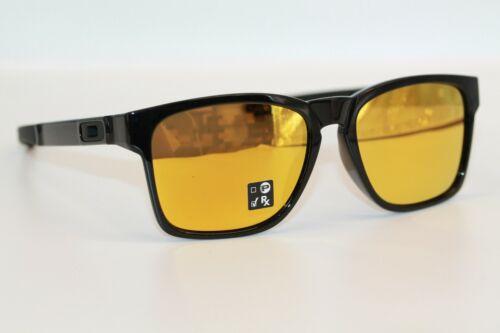 Oakley Catalyst Sunglasses OO9272-04 Polished Black Frame W/ 24K Gold Iridium