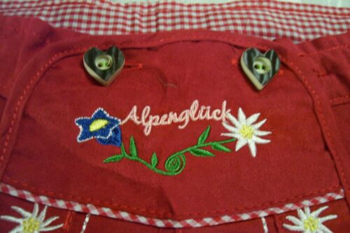 NEW! US 8 Girls,Germany,Trachten,Oktoberfest,Shorts.RED,Embroidered,Edelweiss