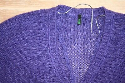 Tbe !! superbe pull mohair chauve-souris violet benetton  taille 40/42