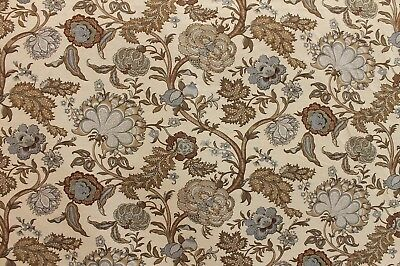 3 YDS KRAVET/ LEE JOFA LOVELY SOMERSET 516 LINEN FLORAL FINE UPHOLSTERY FABRIC
