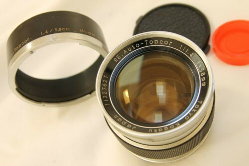 early chrome Topcon RE Auto Topcor 58mm 1.4 . from USA