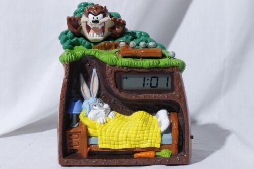 Vtg Looney Tunes Westclox Tasmanian Devil Taz & Bugs Bunny Alarm Clock