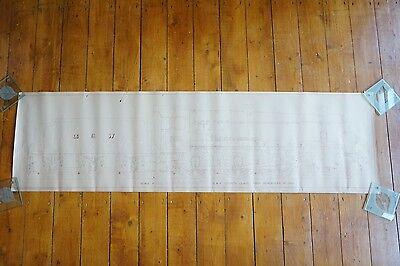 GWR County Class Merioneth Locomotive Loco Drawing Diagram 126cm x 36cm